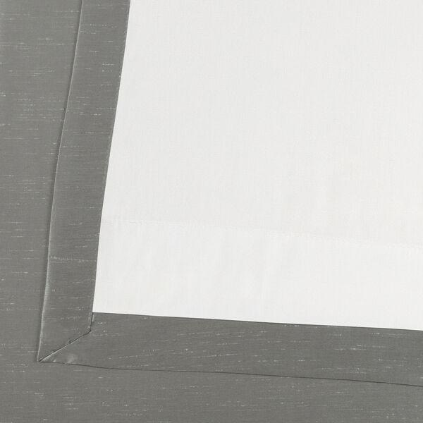 Silver Vintage Textured Faux Dupioni Silk Single Panel Curtain, 50 X 84, image 6
