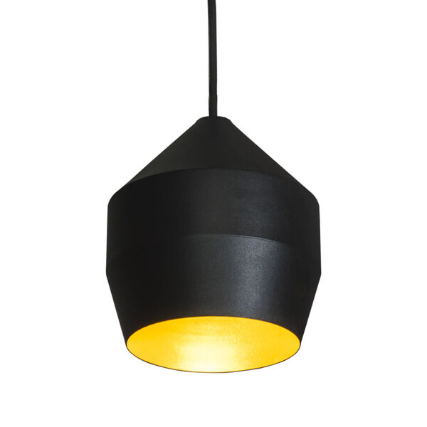 Hoxton Black and Gold One-Light Mini Pendant, image 1