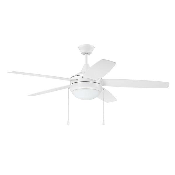 Phaze White 52-Inch Five-Blade Two-Light Ceiling Fan, image 1