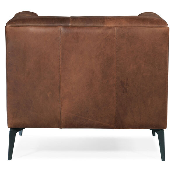 Nicolla Blrown Leather Stationary Chair, image 2