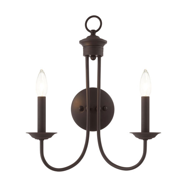 Estate Bronze Two-Light Wall Sconce, image 1