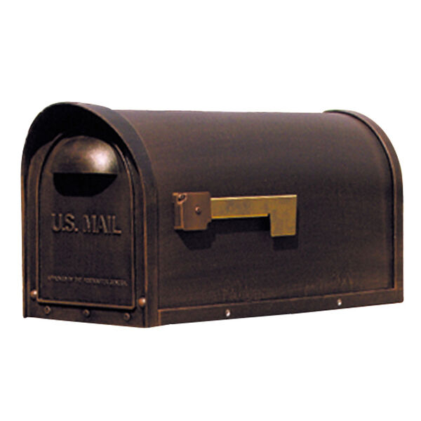 Classic Copper Curbside Mailbox, image 1