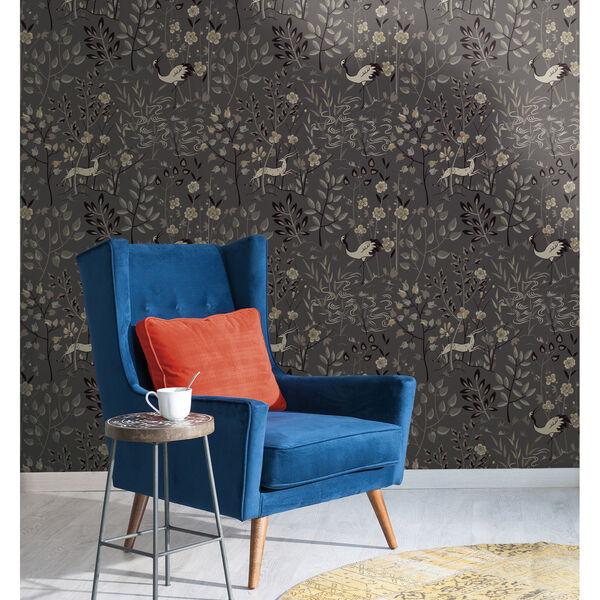 Ronald Redding Urban Dark Grey Aspen Wallpaper, image 2