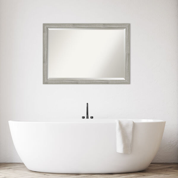 Dove Gray Bathroom Vanity Wall Mirror, image 3