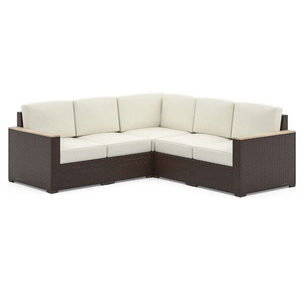 Palm Springs Brown Patio Five-Seat Sectional, image 1