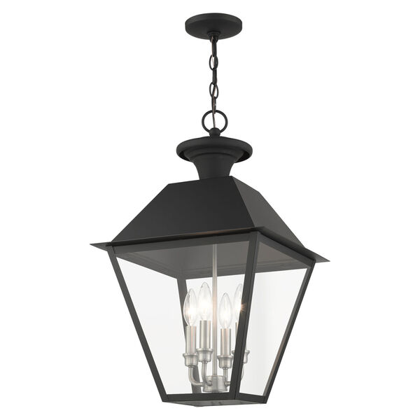 Mansfield Black Four-Light Outdoor Pendant, image 5