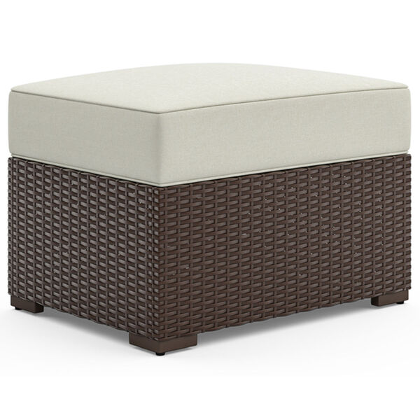 Palm Springs Brown Rattan Wood Three-Piece Outdoor Furniture Set, image 2