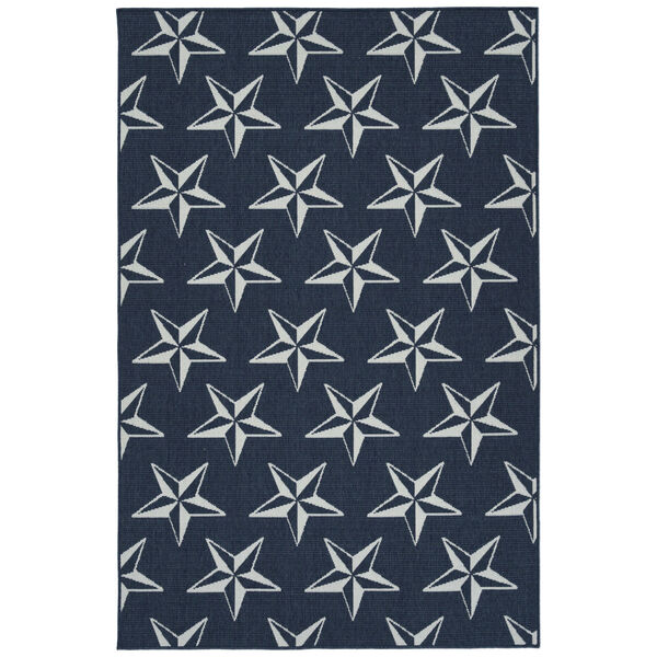 Puerto Navy Star Indoor/Outdoor Rug, image 1