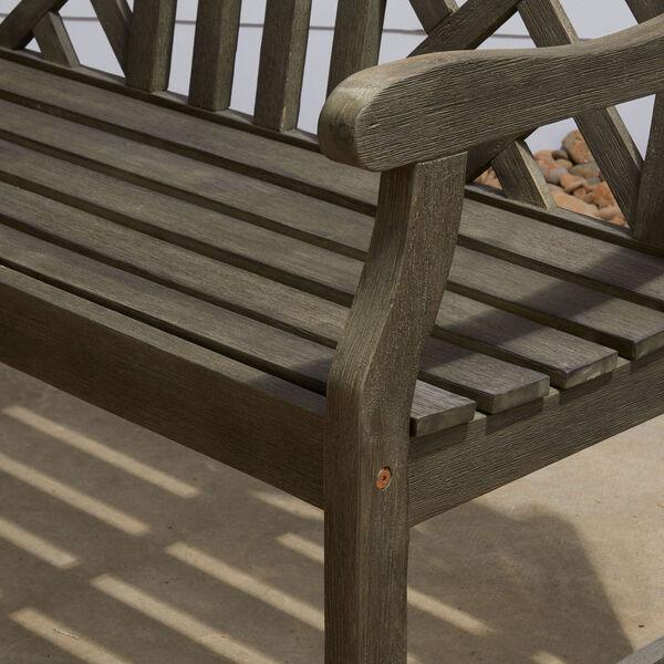 Renaissance Eco-friendly 4-foot Outdoor Hand-scraped Hardwood Garden Bench, image 5