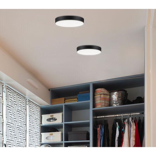 Trim Black One-Light ADA LED Flush Mount with Polycarbonate Shade 3000 Kelvin 1450 Lumens, image 2