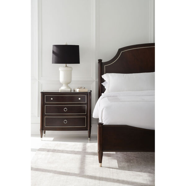 Caracole Classic Mocha Walnut and Soft Silver Paint How Suite It Is Nightstand, image 4