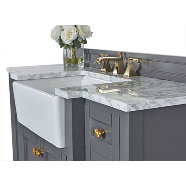 Adeline Sapphire 48-Inch Vanity Console with Farmhouse Sink, image 5
