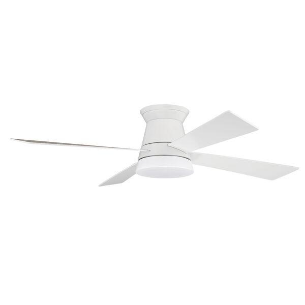 Revello White 52-Inch LED Ceiling Fan, image 1