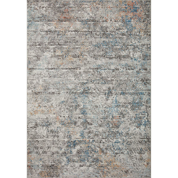 Bianca Gray, Spice and Blue 9 Ft. 9 In. x 13 Ft. 6 In. Area Rug, image 1