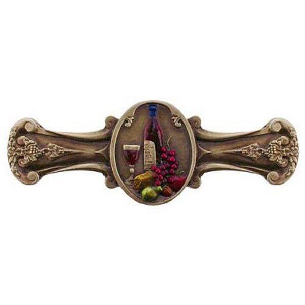 Hand Tinted Brass Best Cellar Drawer Pull, image 1