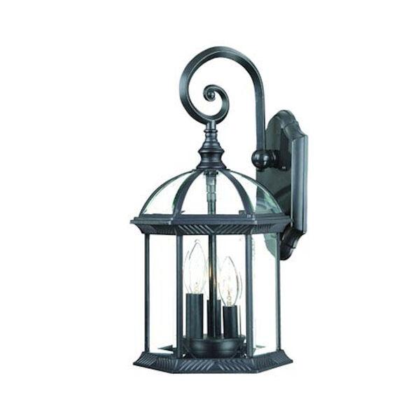 Dover Matte Black One-Light Wall Lantern, image 1