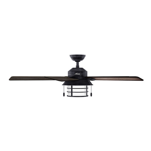 Key Biscayne Weathered Zinc 54-Inch Two-Light Fluorescent Adjustable Ceiling Fan, image 3
