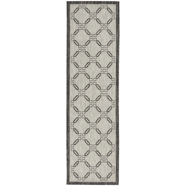 Garden Party Charcoal and Ivory Indoor/Outdoor Area Rug, image 2