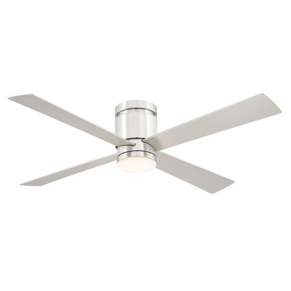 Kwartet Brushed Nickel 52-Inch LED Indoor Outdoor Ceiling Fan, image 1