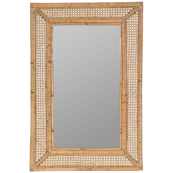 Jameson Naturla Rattan 36-Inch x 24-Inch Wall Mirror, image 2