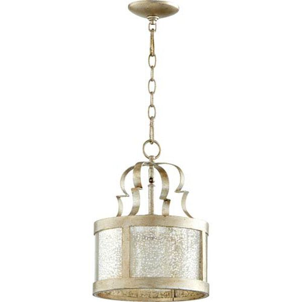 Bloomfield Aged Silver Leaf One-Light Pendant, image 1