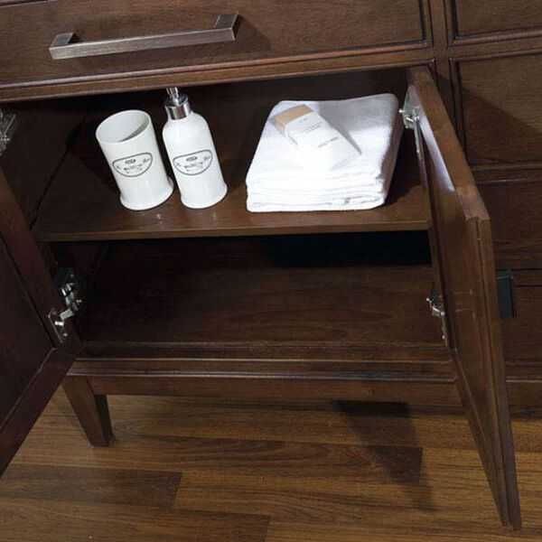 Madison 60-Inch Vanity Only in Tobacco Finish, image 2