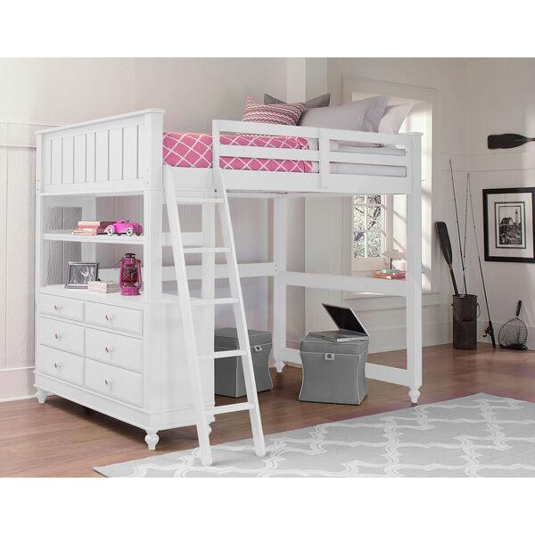 Lake House White Twin Loft Bed, image 1