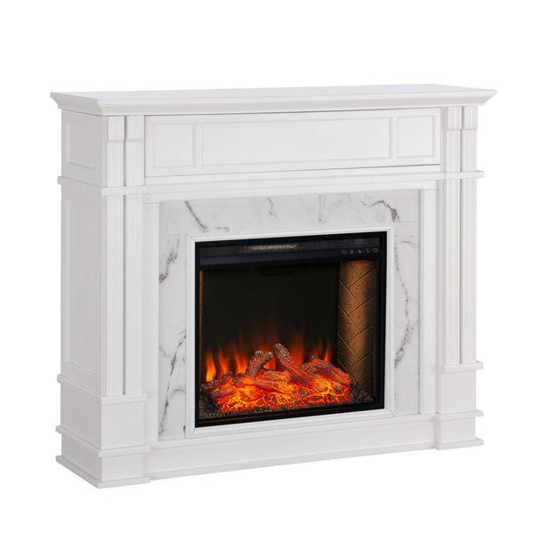 Highgate White Electric Alexa Smart Media Fireplace, image 5