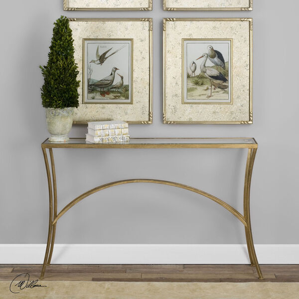 Alayna Gold Console Table, image 2