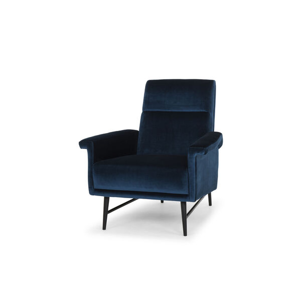 Mathise Midnight Blue and Black Occasional Chair, image 4