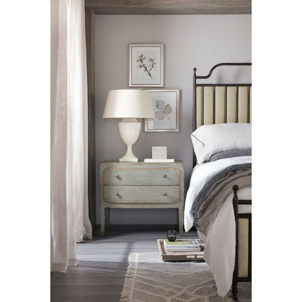 Ciao Bella Gray 34-Inch Two-Drawer Nightstand, image 3