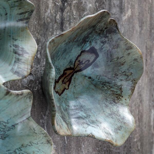 Teo Caribbean Blue Green Wood Wall Art , image 4
