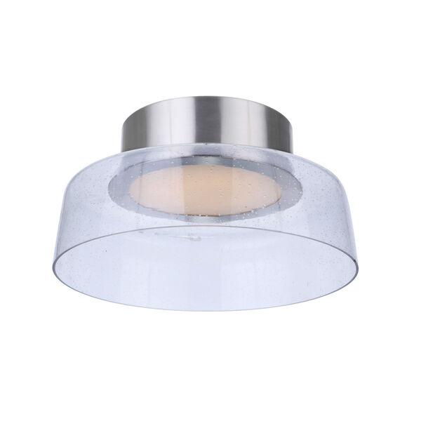 Centric Brushed Polished Nickel 11-Inch LED Flushmount, image 2
