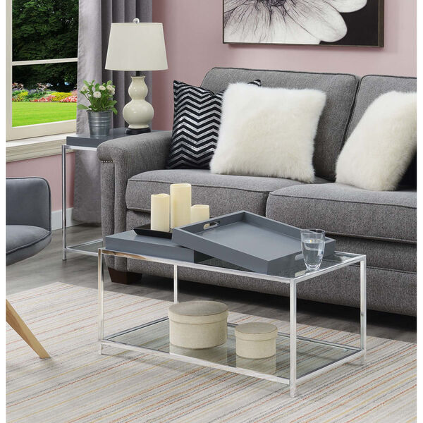 Palm Beach Gray Accent Coffee Table, image 1