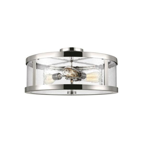 Harrow Polished Nickel 20-Inch Three-Light Semi-Flush Mount, image 1