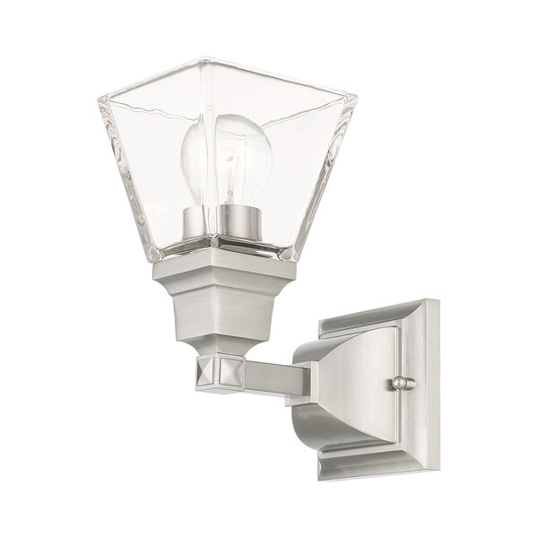 Mission Brushed Nickel One-Light Wall Sconce, image 3