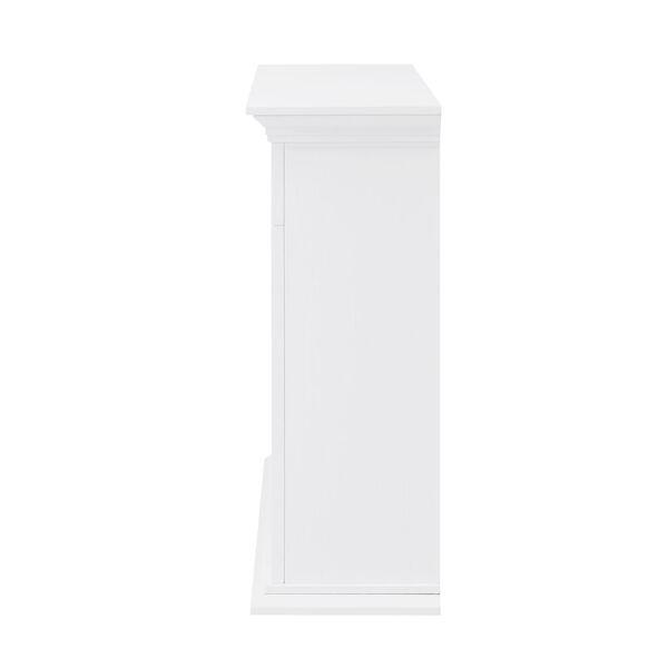 Torlington White Tiled Marble Electric Fireplace Mantel with Alexa Firebox, image 5