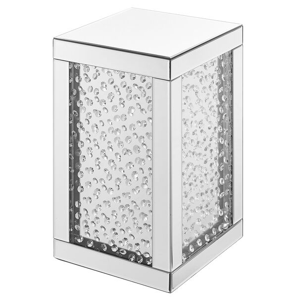 Modern Mirrored 20-Inch Crystal End Table, image 4