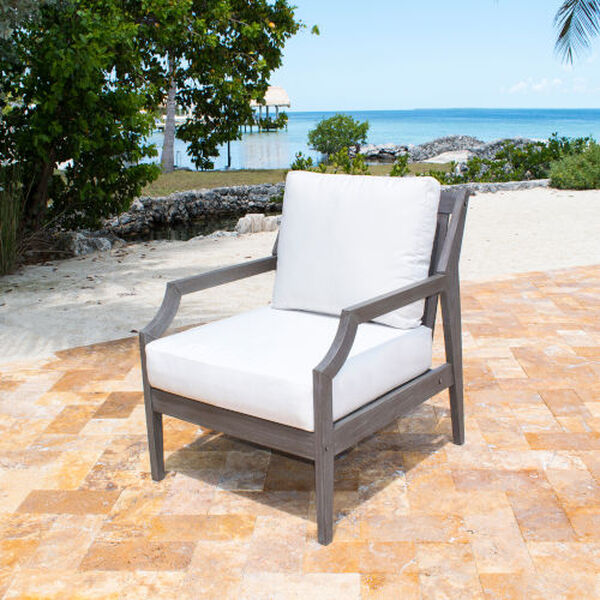 Poolside Outdoor Lounge Chair with Cushion, image 3