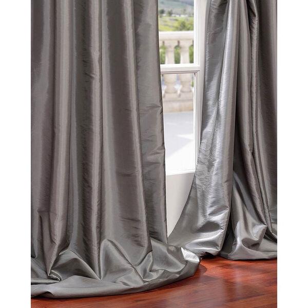 Platinum 96 x 50-Inch Grommet Blackout Faux Silk Taffeta Curtain Single Panel, image 4