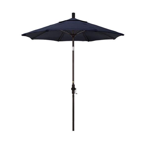 7.5 Foot Umbrella Fiberglass Market Collar Tilt - Bronze/Sunbrella/Navy, image 1