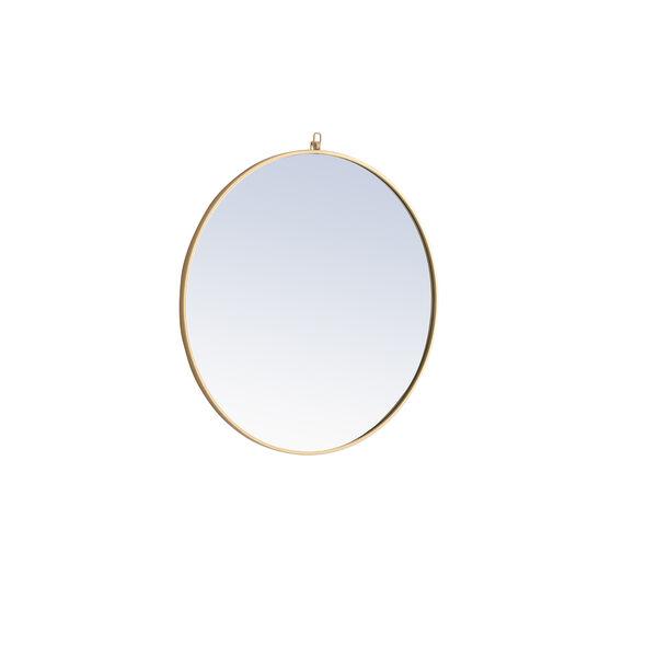 Eternity Brass Round 32-Inch Mirror with Hook, image 5
