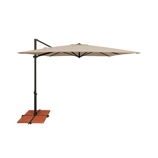 Skye Beige and Black Cantilever Umbrella, image 1