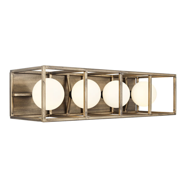 Plaza Havana Gold And Carbon Four-Light LED ADA Bath Vanity, image 3