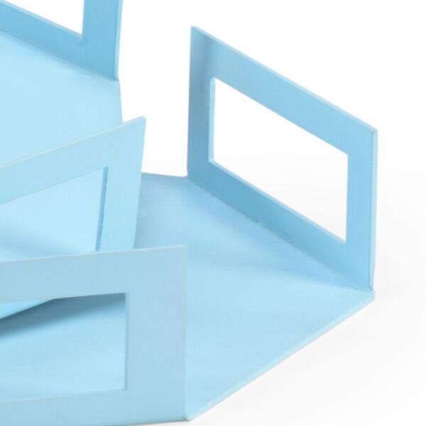 Blue Octagon Trays, image 2