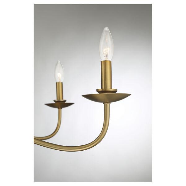 Anna Natural Brass Five-Light Chandelier, image 6