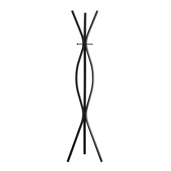 Coat Rack - 72H / Black Metal Contemporary Style, image 2