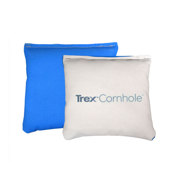 Blue and White Trex All Weather Light Up Cornhole Bags, image 1