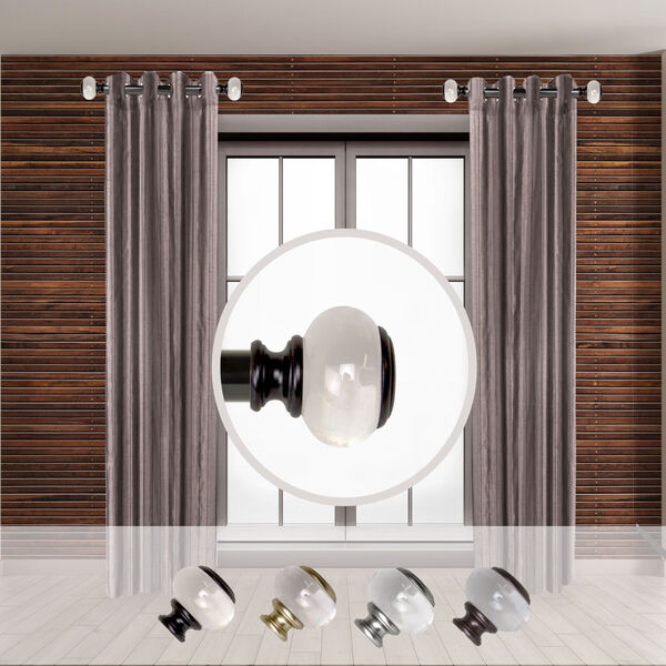 Black 20-Inch Side Curtain Rod, Set of Two, image 2