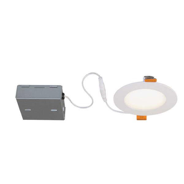 STAK Matte White 5-Inch Integrated LED Recessed Fixture, Pack of 4, image 2